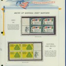 1966 USA MNH Scott# 1310, 14 - Mr. Zip Blocks of 4 Stamps mounted on a White Ace Page - E2703