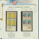 1966 USA MNH Scott# 1319, 20 - Mr. Zip Blocks of 4 Stamps mounted on a White Ace Page - E2703
