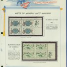 1966 USA MNH Scott# 1316, 18 - Mr. Zip Blocks of 4 Stamps mounted on a White Ace Page - E2703
