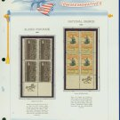 1967 USA MNH Scott# 1323, C70 - Mr. Zip Blocks of 4 Stamps mounted on a White Ace Page - E2703