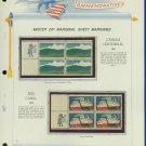 1967 USA MNH Scott# 1324, 25 - Mr. Zip Blocks of 4 Stamps mounted on a White Ace Page - E2703