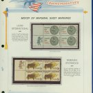 1967 USA MNH Scott# 1326, 28 - Mr. Zip Blocks of 4 Stamps mounted on a White Ace Page - E2703