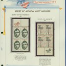 1967 USA MNH Scott# 1327, 29 - Mr. Zip Blocks of 4 Stamps mounted on a White Ace Page - E2703