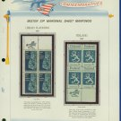 1967 USA MNH Scott# 1333, 34 - Mr. Zip Blocks of 4 Stamps mounted on a White Ace Page - E2703