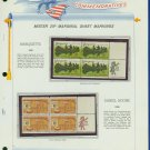 1968 USA MNH Scott# 1356, 57 - Mr. Zip Blocks of 4 Stamps mounted on a White Ace Page - E2703