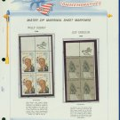 1968 USA MNH Scott# 1355, 59 - Mr. Zip Blocks of 4 Stamps mounted on a White Ace Page - E2703