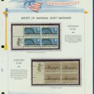 1968 USA MNH Scott# 1358, 60 - Mr. Zip Blocks of 4 Stamps mounted on a White Ace Page - E2703