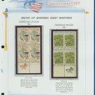 1969 USA MNH Scott# 1369, 70 - Mr. Zip Blocks of 4 Stamps mounted on a White Ace Page - E2703