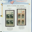 1969 USA MNH Scott# 1371, 73 - Mr. Zip Blocks of 4 Stamps mounted on a White Ace Page - E2703