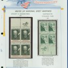 1969 USA MNH Scott# 1380, 83 - Mr. Zip Blocks of 4 Stamps mounted on a White Ace Page - E2703
