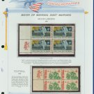 1969 USA MNH Scott# 1382, C76 - Mr. Zip Blocks of 4 Stamps mounted on a White Ace Page - E2703