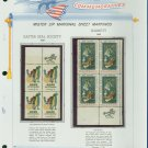 1969 USA MNH Scott# 1385, 86 - Mr. Zip Blocks of 4 Stamps mounted on a White Ace Page - E2703