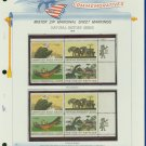 1969 USA MNH Scott# 1387 - 90 - Mr. Zip Blocks of 4 Stamps mounted on a White Ace Page - E2703