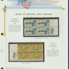 1970 USA MNH Scott# 1406, 7 - Mr. Zip Blocks of 4 Stamps mounted on a White Ace Page - E2703