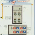 1970 USA MNH Scott# 1419, 20 - Mr. Zip Blocks of 4 Stamps mounted on a White Ace Page - E2703