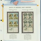 1971 USA MNH Scott# 1423, 24 - Mr. Zip Blocks of 4 Stamps mounted on a White Ace Page - E2703