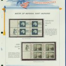 1971 USA MNH Scott# 1431, 33 - Mr. Zip Blocks of 4 Stamps mounted on a White Ace Page - E2703