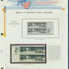 1971 USA MNH Scott# 1434, 35 - Mr. Zip Blocks of 4 Stamps mounted on a White Ace Page - E2703
