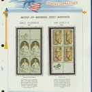 1971 USA MNH Scott# 1436, 1437 - Mr. Zip Blocks of 4 Stamps mounted on a White Ace Page - E2703