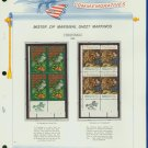 1971 USA MNH Scott# 1444, 1445 - Mr. Zip Blks of 4 Stamps mounted on a WA Pgs - Christmas -E2703