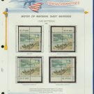 1972 USA MNH Scott# 1448 - 1451 - Mr. Zip Blocks of 4 Stamps mounted on a White Ace Page - E2703