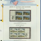 1972 USA MNH Scott# 1452, 1454 - Mr. Zip Blocks of 4 Stamps mounted on a White Ace Page - E2703