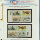 1972 USA MNH Sc# 1464 - 67 - Mr. Zip Blks of 4 Stamps mounted on WA Pgs – Conservation -E2703