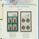 1972 USA MNH Scott# 1471, 1472 - Mr. Zip Blocks of 4 Stamps mounted on a White Ace Page - E2703