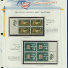 1972 USA MNH Scott# 1473, 1474 - Mr. Zip Blocks of 4 Stamps mounted on a White Ace Page - E2703