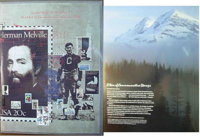1984 USPS Commemorative Album with complete set of MNH stamps E5186,6705