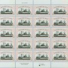 1998 USA UNUSED Scott# 3192 - 32c Battleship Maine Mini Sheet of 20 Stamps – E5997