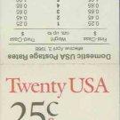 1987-88 USA UNUSED Scott# 2284-85 - 25c Grosbeak & Owl Partial Booklet of 4 stamps – E5997