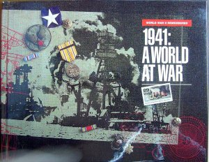 USPS Commemorative Album 1941 World War II with COMPLETE SET of MNH Stamps E1552
