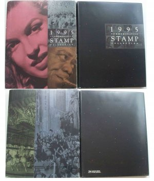 1995 USPS Commemorative Album with COMPLETE SET of MNH Stamps E6362,7311