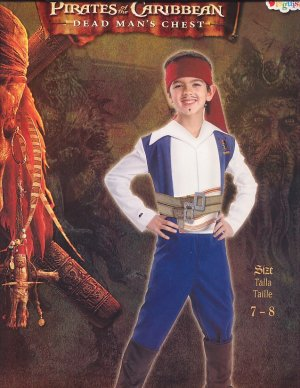 PIRATE Jack Sparrow Halloween Costume Size 7-8 New Costumes!!