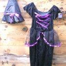 Witch BLACK & PURPLE size MEDIUM Halloween Costume NEW Costumes!!  SPECIAL SALE PRICE!