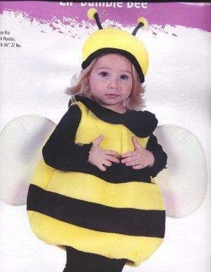BUMBLE BEE Halloween PLUSH Costume Sz 12-24 Months NEW!