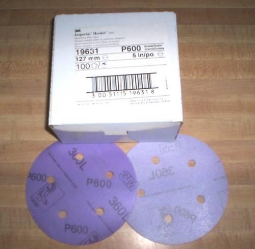 3M Imperial Hookit Discs 5 Inch P600 #19631 Sandpaper