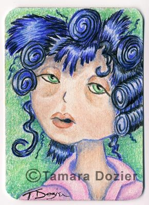 "ACEO print - ""Give me coffee"""