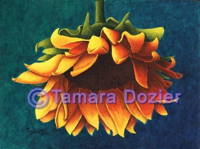 Sunflower original acrylic painting