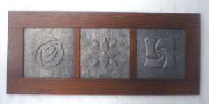 Mission Oak Hand Hammered Rose Trio In Lead