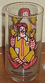 Ronald Mcdonald Collectors series glass