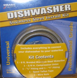 Smart Choice Dishwasher Stainless Steel Install Kit