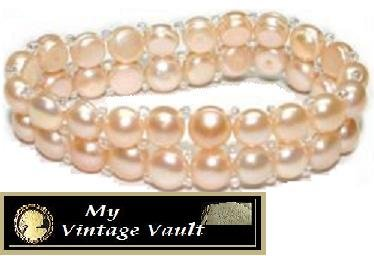 Natural Fresh Water Pink Pearl Bracelet - NEW