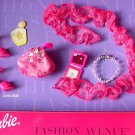 MIB BARBIE FASHION AVE HOT PINK SHOES - PURSE - BOA - NECKLACE - COMPACT!