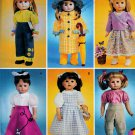 "AMERICAN GIRL PATTERN DOROTHY OZ, SLICKER, POODLE SKIRT+ 18"" DOLL McCALL 4066 MINT"