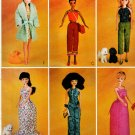 "11.5"" BARBIE DOLL DRESS, CAPRI CAMISOLE, SKIRT + MCCALL 3276 PATTERN UNCUT"