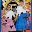 """18"""" DOLL + GIRLS MATCHING COSTUMES SIZE XS - L PATTERN BUTTERICK 5658 UNCUT"""