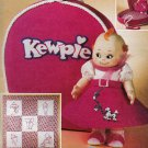 McCall&#39;s 3072 KEWPIE DOLL PATTERN 1950s OUTFIT-WALLHANGING-QUILT OOP NEW UNCUT CARRYCASE-