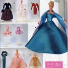 "11.5"" BARBIE EVENING WARDROBE + WEDDING, BALLET DOLL PATTERN SIMPLICITY 8481"
